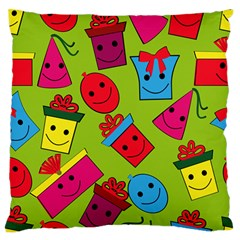 Happy Birthday Background Large Flano Cushion Case (Two Sides)