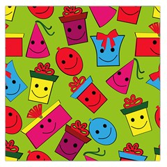 Happy Birthday Background Large Satin Scarf (Square)