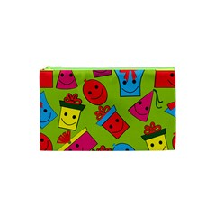 Happy Birthday Background Cosmetic Bag (XS)