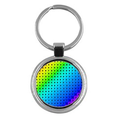 Letters Numbers Color Green Pink Purple Key Chains (Round)