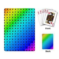 Letters Numbers Color Green Pink Purple Playing Card