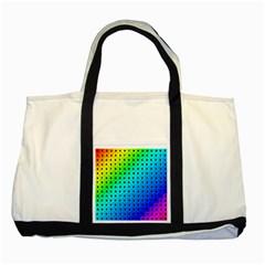 Letters Numbers Color Green Pink Purple Two Tone Tote Bag