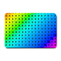 Letters Numbers Color Green Pink Purple Small Doormat