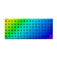 Letters Numbers Color Green Pink Purple Cosmetic Storage Cases