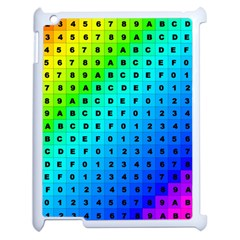 Letters Numbers Color Green Pink Purple Apple iPad 2 Case (White)