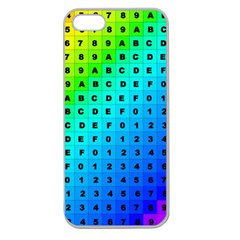 Letters Numbers Color Green Pink Purple Apple Seamless iPhone 5 Case (Clear)