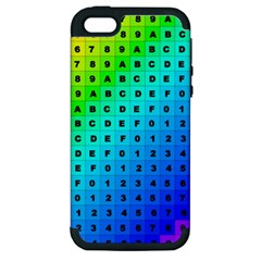 Letters Numbers Color Green Pink Purple Apple iPhone 5 Hardshell Case (PC+Silicone)