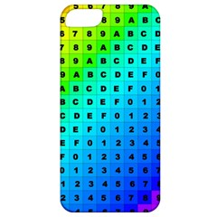 Letters Numbers Color Green Pink Purple Apple iPhone 5 Classic Hardshell Case