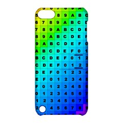 Letters Numbers Color Green Pink Purple Apple iPod Touch 5 Hardshell Case with Stand