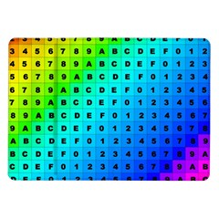 Letters Numbers Color Green Pink Purple Samsung Galaxy Tab 10.1  P7500 Flip Case