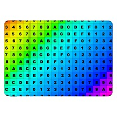 Letters Numbers Color Green Pink Purple Samsung Galaxy Tab 8.9  P7300 Flip Case