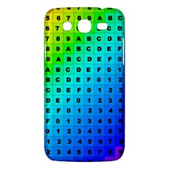 Letters Numbers Color Green Pink Purple Samsung Galaxy Mega 5.8 I9152 Hardshell Case