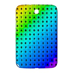 Letters Numbers Color Green Pink Purple Samsung Galaxy Note 8.0 N5100 Hardshell Case