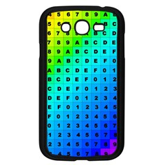 Letters Numbers Color Green Pink Purple Samsung Galaxy Grand DUOS I9082 Case (Black)