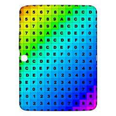 Letters Numbers Color Green Pink Purple Samsung Galaxy Tab 3 (10.1 ) P5200 Hardshell Case