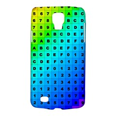 Letters Numbers Color Green Pink Purple Galaxy S4 Active
