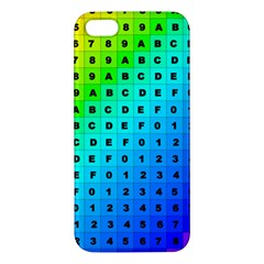 Letters Numbers Color Green Pink Purple iPhone 5S/ SE Premium Hardshell Case