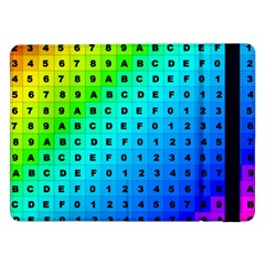 Letters Numbers Color Green Pink Purple Samsung Galaxy Tab Pro 12.2  Flip Case