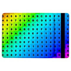 Letters Numbers Color Green Pink Purple iPad Air Flip
