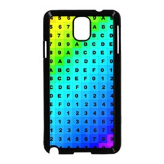 Letters Numbers Color Green Pink Purple Samsung Galaxy Note 3 Neo Hardshell Case (Black)