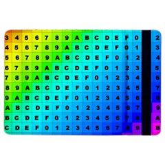 Letters Numbers Color Green Pink Purple iPad Air 2 Flip