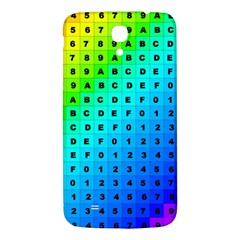 Letters Numbers Color Green Pink Purple Samsung Galaxy Mega I9200 Hardshell Back Case