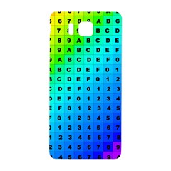 Letters Numbers Color Green Pink Purple Samsung Galaxy Alpha Hardshell Back Case