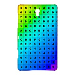 Letters Numbers Color Green Pink Purple Samsung Galaxy Tab S (8.4 ) Hardshell Case