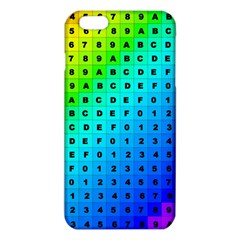 Letters Numbers Color Green Pink Purple iPhone 6 Plus/6S Plus TPU Case