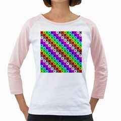 Mapping Grid Number Color Girly Raglans