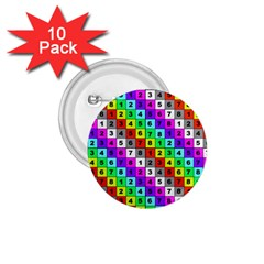 Mapping Grid Number Color 1.75  Buttons (10 pack)