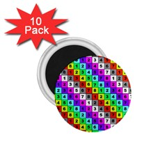 Mapping Grid Number Color 1.75  Magnets (10 pack)