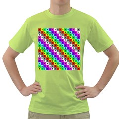 Mapping Grid Number Color Green T-Shirt