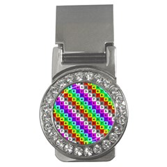 Mapping Grid Number Color Money Clips (CZ)