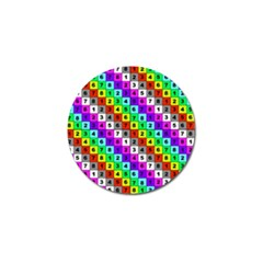 Mapping Grid Number Color Golf Ball Marker (4 pack)