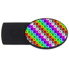 Mapping Grid Number Color USB Flash Drive Oval (1 GB)