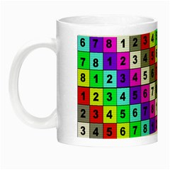 Mapping Grid Number Color Night Luminous Mugs