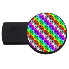 Mapping Grid Number Color USB Flash Drive Round (4 GB)