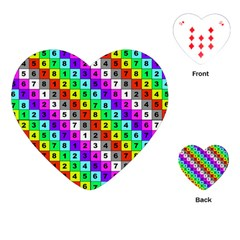 Mapping Grid Number Color Playing Cards (Heart)