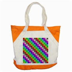 Mapping Grid Number Color Accent Tote Bag