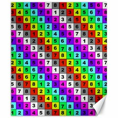 Mapping Grid Number Color Canvas 8  x 10