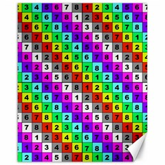 Mapping Grid Number Color Canvas 16  x 20