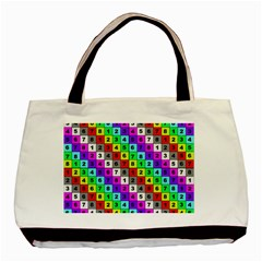 Mapping Grid Number Color Basic Tote Bag (Two Sides)