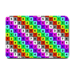 Mapping Grid Number Color Small Doormat
