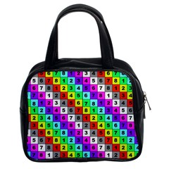 Mapping Grid Number Color Classic Handbags (2 Sides)