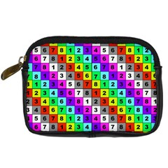 Mapping Grid Number Color Digital Camera Cases