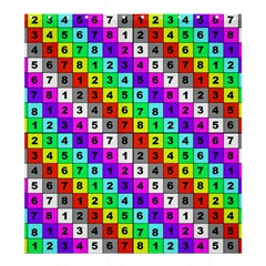 Mapping Grid Number Color Shower Curtain 66  x 72  (Large)