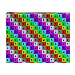 Mapping Grid Number Color Cosmetic Bag (XL)