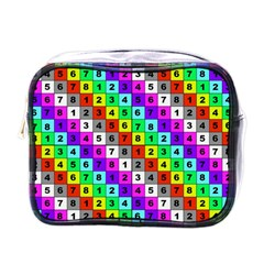 Mapping Grid Number Color Mini Toiletries Bags