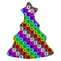 Mapping Grid Number Color Christmas Tree Ornament (Two Sides)